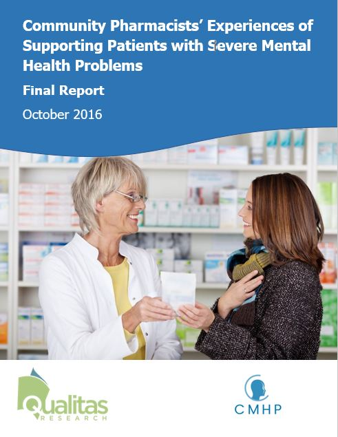 Community pharmacists' experiences of supporting people with mental heath problems: