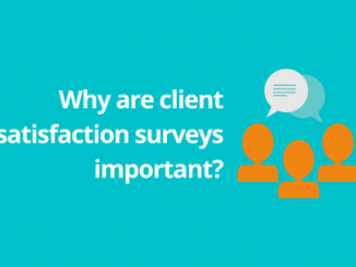 Header image for article about client satisfaction surveys